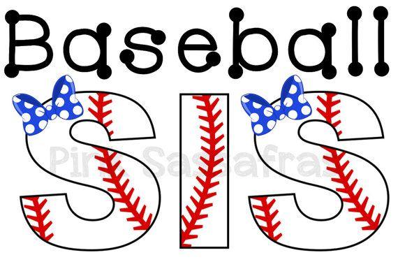 Baseball Sister Iron On Transfer by PinkSassafras on Etsy