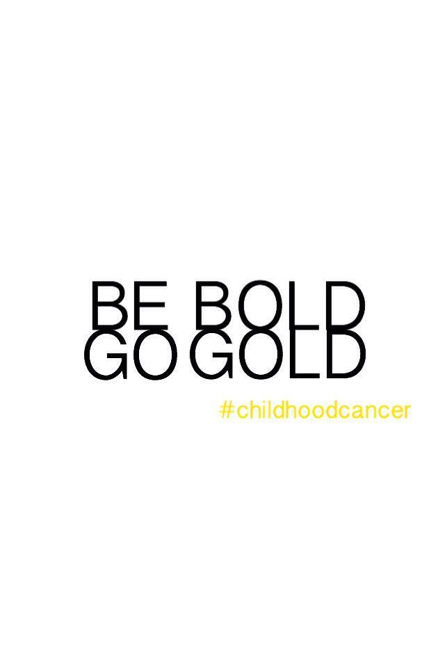 September ist ein Monat, in dem Kinder auf Krebs aufmerksam werden! Sei mutig, gehe Gold und verbreite …