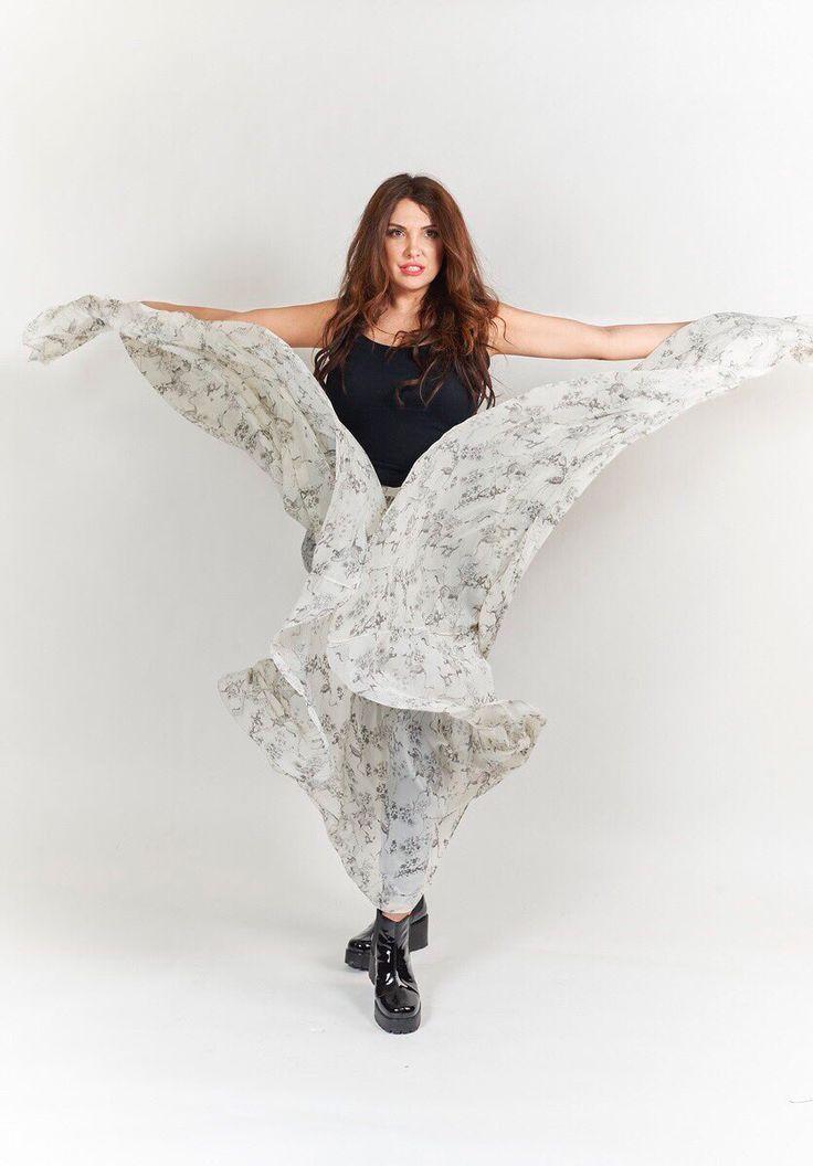 Шёлковая юбка с зебрами