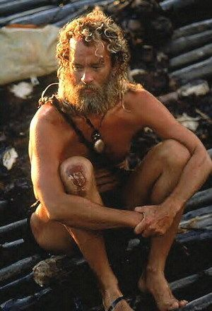 """Actors Who've Gotten Skeletal For Roles. Tom Hanks Movie: """"Cast Away"""" (2000) Role: Chuck Noland, a systems analyst whose airplane crashes and strands him alone in the Pacific Ocean Weight loss: Hanks gained 50 pounds to portray the pudgy Chuck and then had to shed the weight to depict his growing state of emaciation while stranded."""