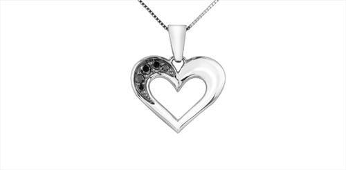Enhanced Black Diamond Heart Pendant