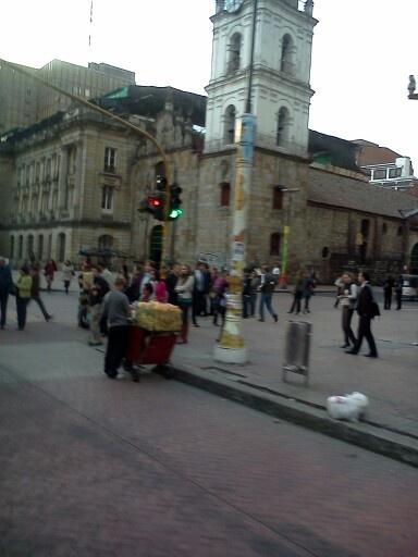 Un poste en Bogotá