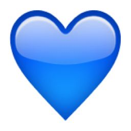 The+Blue+Heart+Emoji+on+iEmoji.com