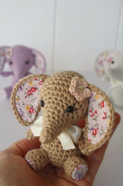 Tiny Luck Elephant Amigurumi Pattern - http://pinterest.com/Amigurumipins