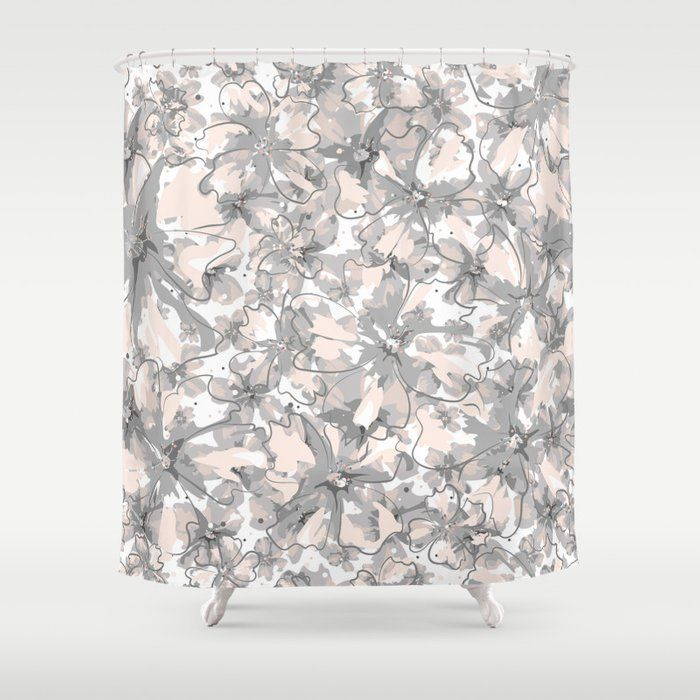Stop Neglecting Bathroom Decor Our Designer Shower Curtains Bring A Fresh New Feel To An Overlooked Space Hoo In 2020 Curtains Designer Shower Curtains Pink Flowers