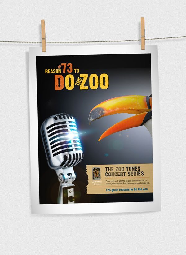 Dallas Zoo Campaign by Coby King, via Behance
