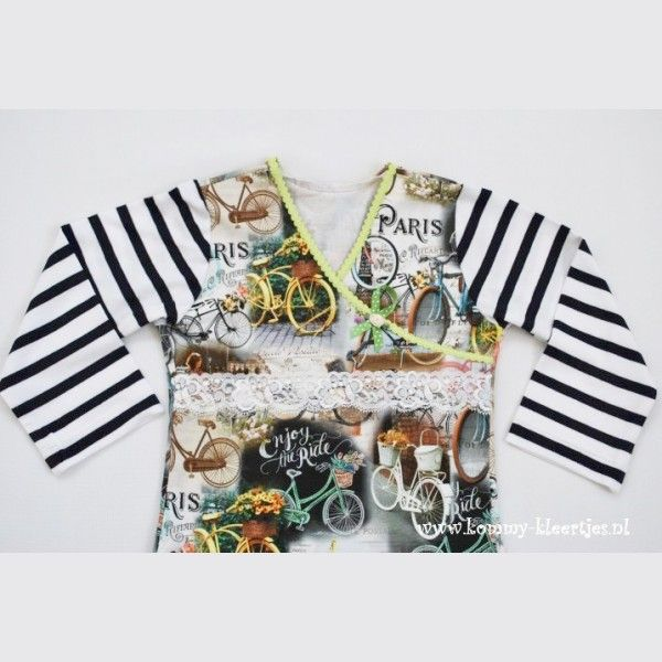 Wikkeljurkje vrolijke fietsen #wikkeljurkje #kommykleertjes #jurkje #handgemaaktekleding #meisjeskleding #onlinewinkel #handmade #dress #fashionforgirls #