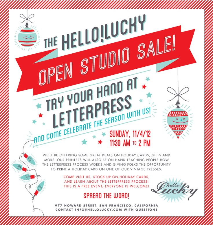 Open House Holiday Sale