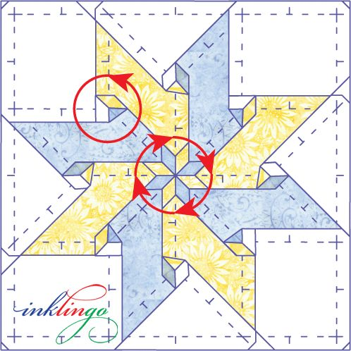 how to make a 6 pointed star quilt