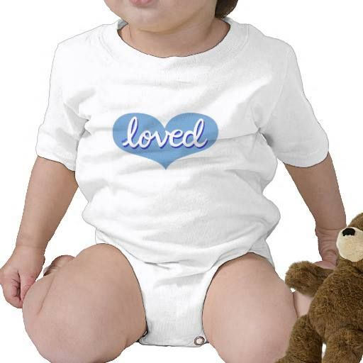 Baby onesie Blue heart design Available in a range of styles and designs