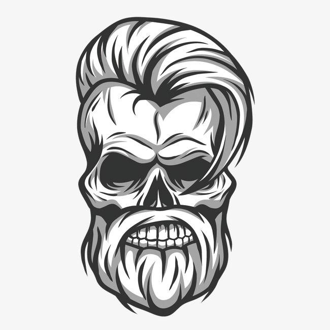 vector hair handsome skull