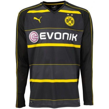 Maillot Dortmund 2016/2017 Manches Longues Officiel Extérieur. Flocages Personnalisés Disponibles.