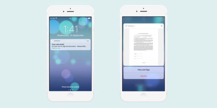 SignEasy now lets you sign documents straight from your iOS lock screen