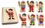 Wooden Dress Up Pirate Puzzle (18 Piece) in Box