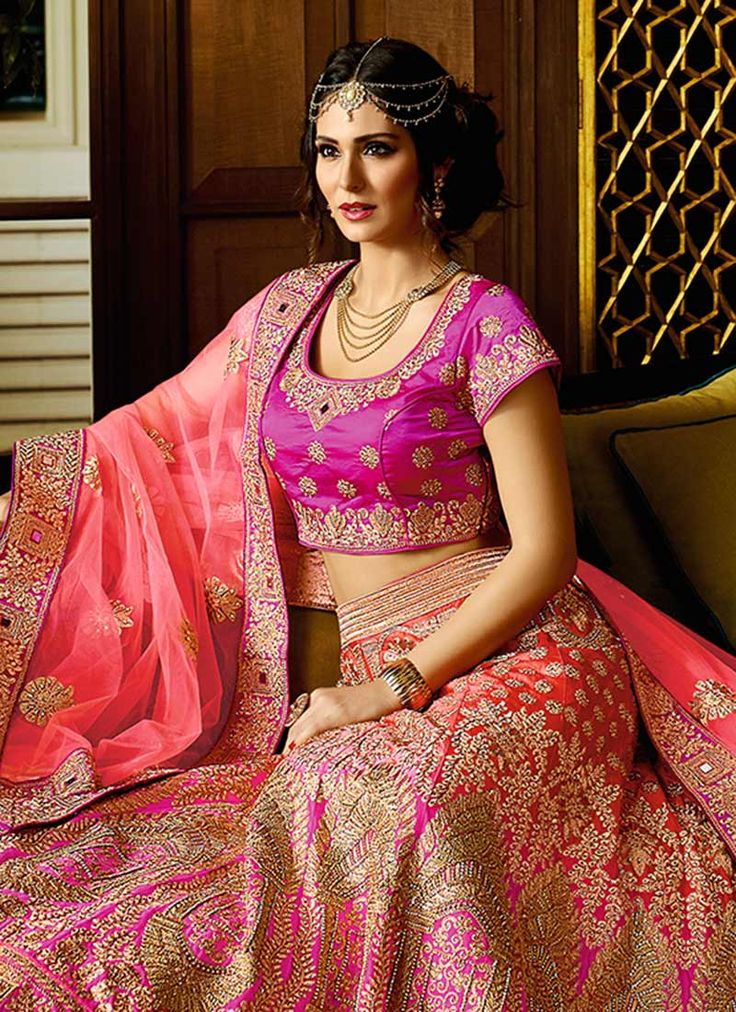 Pink N Purple Umbrella Lehenga Choli