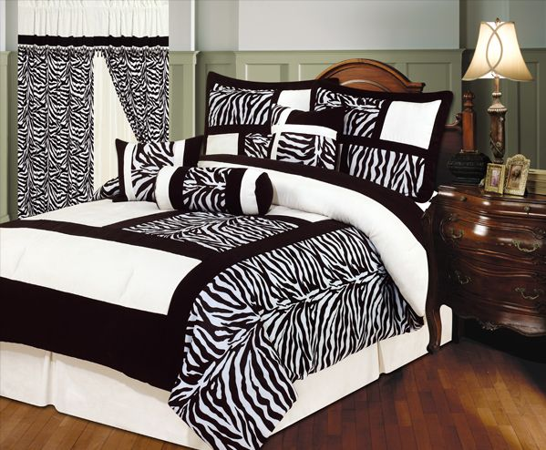 zebra bedding - Check the 5 best Sebra Beddings we at Pretty Home have selected for you. They come in black, blue, green and pink http://www.prettyhome.org/zebra-bedding/