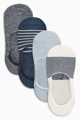 Blue Invisible Socks Four Pack