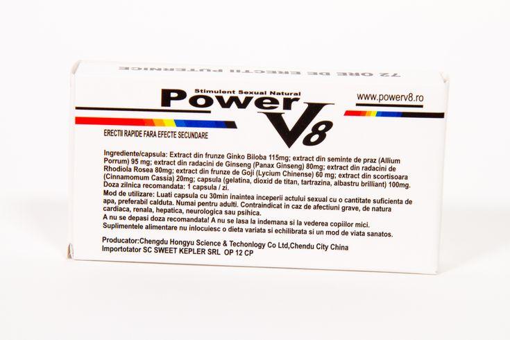 Pastile potenta, ejaculare precoce, impotenta, erectie - power v8