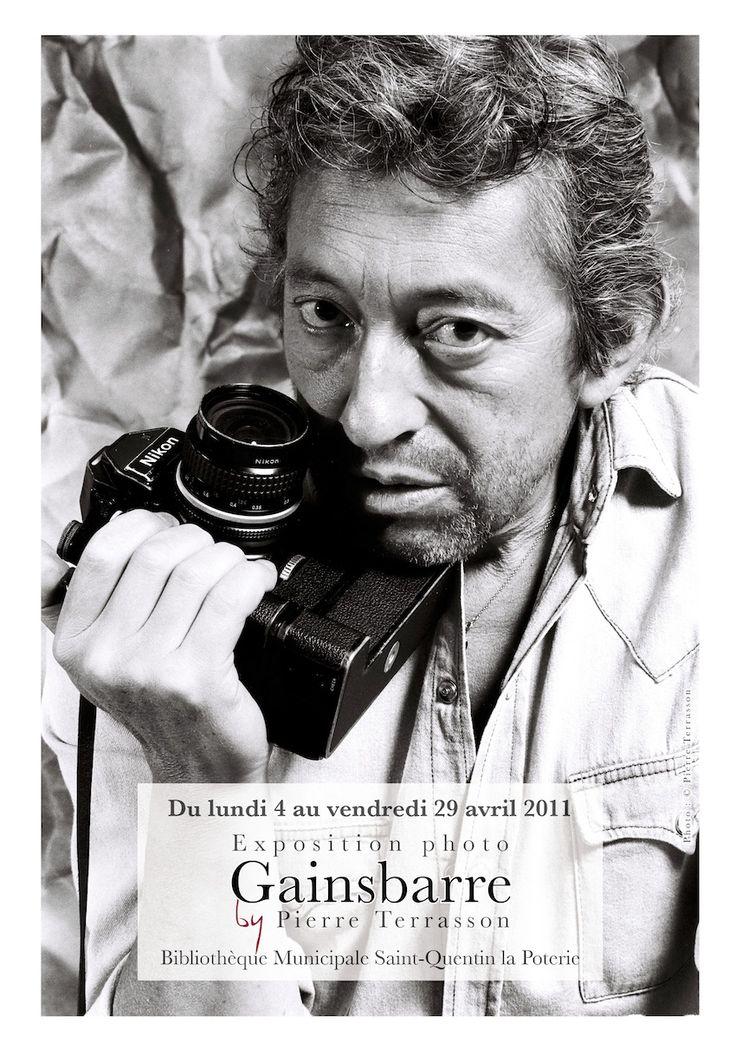 Exposition photo Gainsbourg. Médiathèque Saint-Quentin-la-Poterie