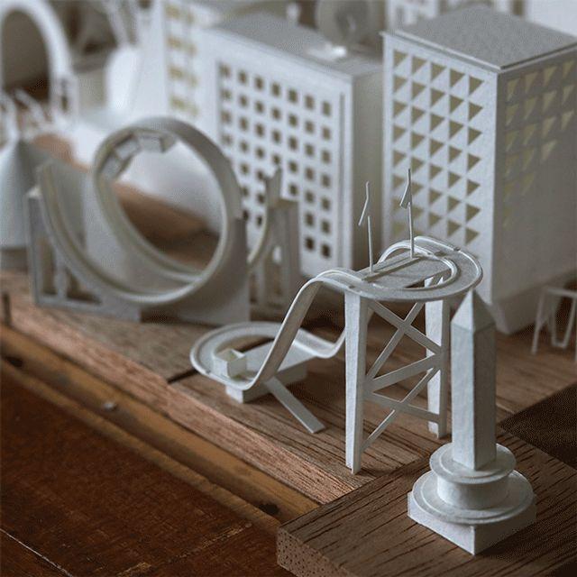 Charles Young continue à créer sa ville avec 635 petites structures de papier…