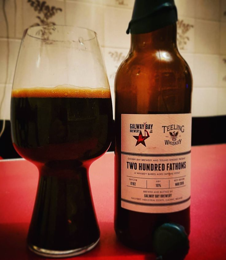 Galway Bay Brewery & @teeling_whiskey 200 Fathoms 2016 Edition lovely pitch black whiskey barrel aged stout getting lots of dark chocolate on the nose and taste with some nice warmth from the whiskey love it glad I put away some bottles to settle out for a while and to have it as my first of 2017. Looking forward to the next edition. #galwaybaybrewery #200fathoms #galway #Ireland #irishbeer #irishcraftbeer #craftnotcrap #craftbeer #cheersguys #beeroclockshow #beerpic #beerpics #beergeek…