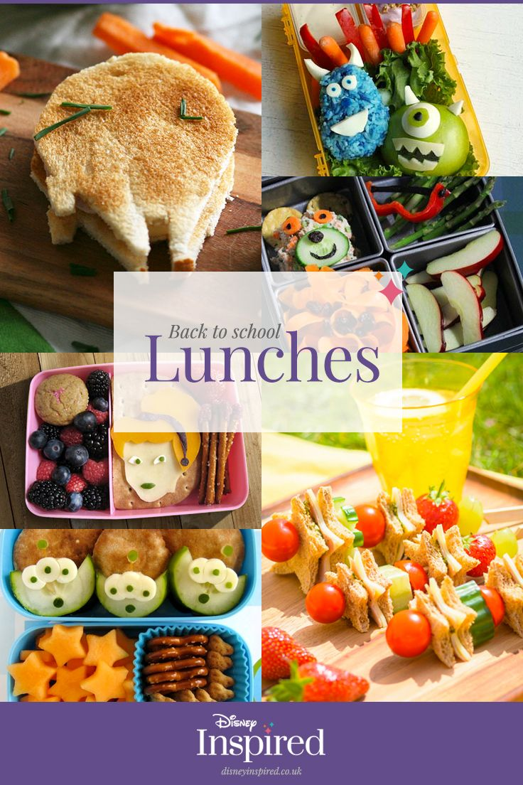 Disney Inspired lunchbox ideas can make even the fussiest little eaters excited for lunch break!