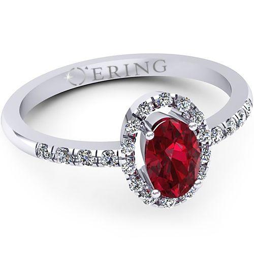Inel logodna L07ARB Inel cu diamante si rubin