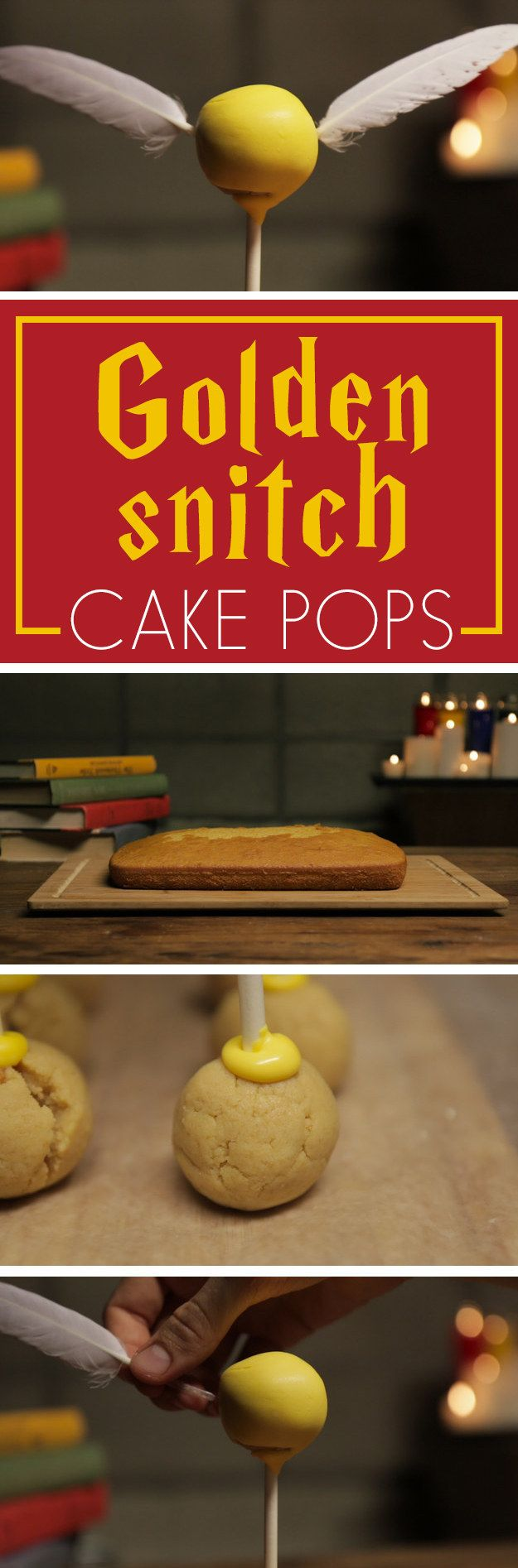 Make These Golden Snitch Cake Pops For Harry Potter's Birthday