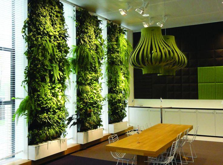 green office design. nice green pillars greenwall verticalgarden office design