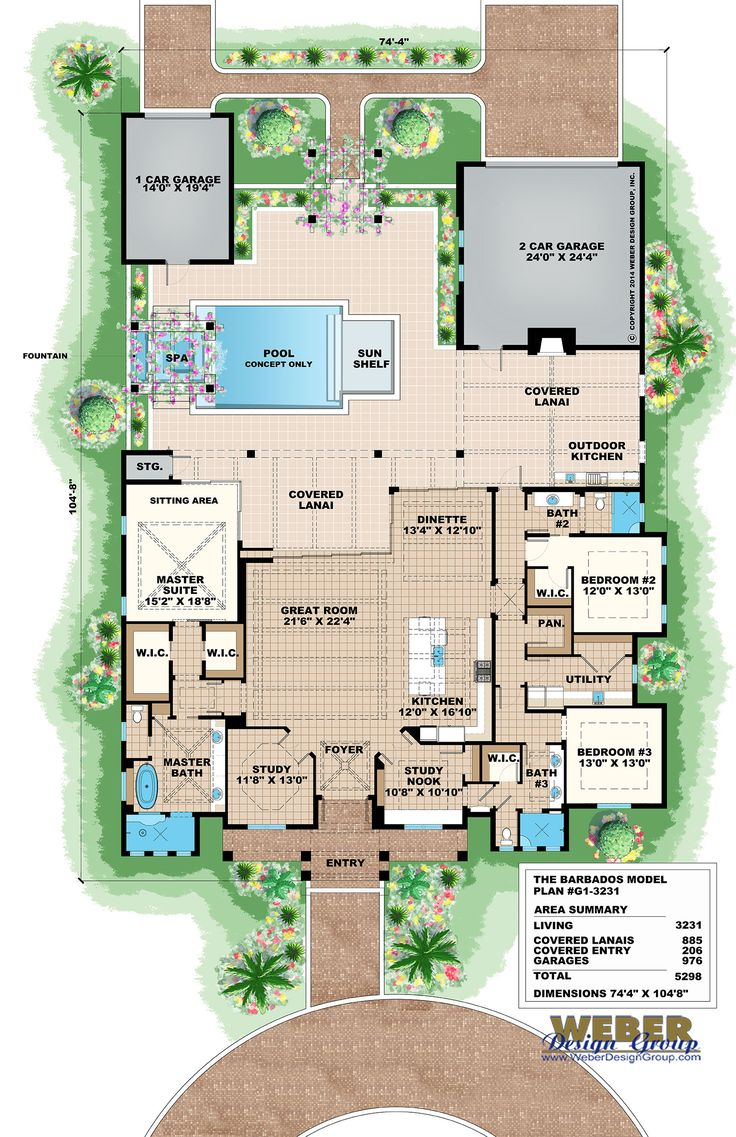 50 best olde florida style home plans images on pinterest 1 story olde florida style house plan features 3 bedrooms 3 baths and tandem rear entry garages other amenities include a great room island kitchen wit