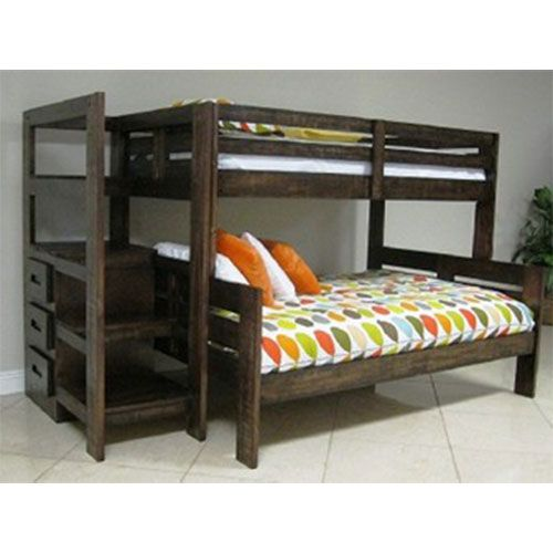 Best Oak Furniture West Twin Full Folding Bunkbed Furniture 400 x 300