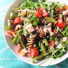 Healthy Living in Heels: Green Pesto Chicken Pasta Salad