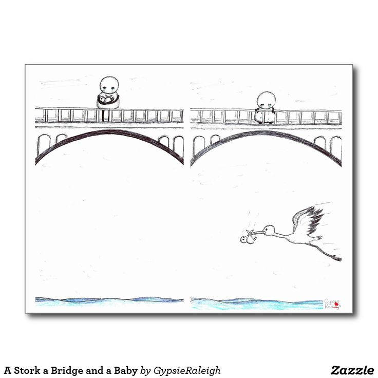 A Stork a Bridge and a Baby