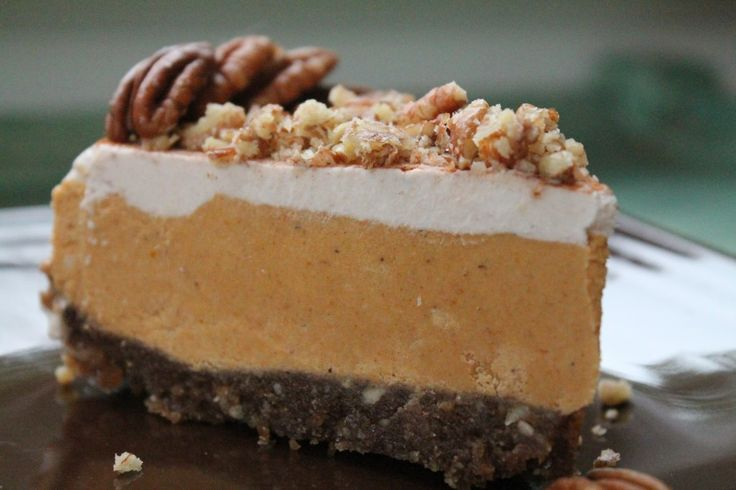 Pumpkin Pecan Cheesecake. gluten, dairy, and soy free!
