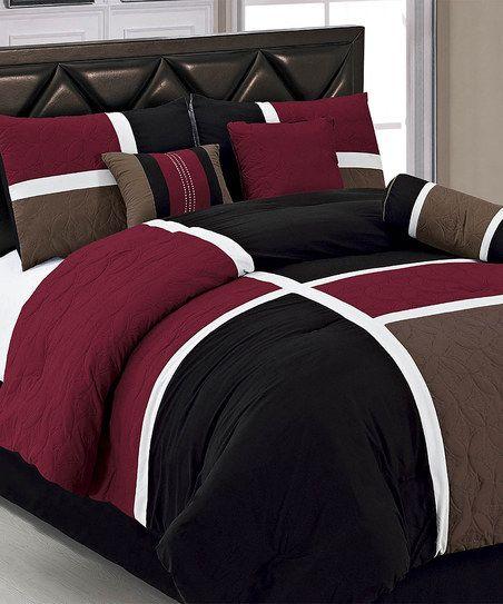 Burgundy Marcie Comforter Set