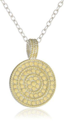 """Anna Beck Designs """"Gili"""" 18k Gold-Plated Reversible Circle of Life Charity Necklace Anna Beck Designs. $90.00. Items that are handmade may vary in size, shape and color. The Gili island is the inspiration behind this collection, famous for its beautiful white sandy beaches. The handcrafted layered wire border adds a touch of sophisticated detail and casual elegance Made in ID. Made in Indonesia. The Gili island is the inspiration behind this collection, famous for its beaut..."""