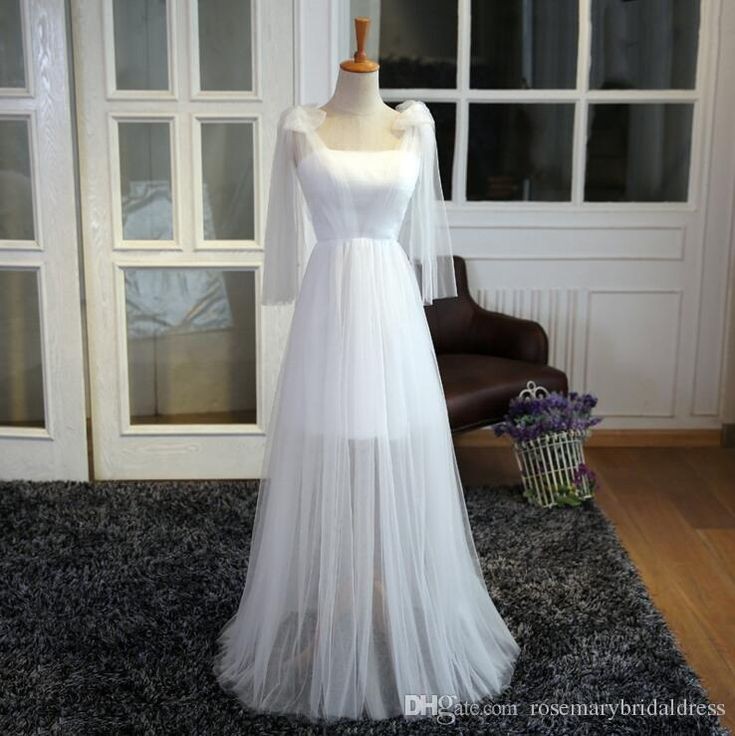 White Tulle Prom Dresses Short with Long Tulle Bohemian Beach Event Party Gowns Vestidos De Noiva Cheap Formal Gowns Z-40 Prom Dresses Party Dresses Wedding Guest Dress Online with $114.29/Piece on Rosemarybridaldress's Store | DHgate.com