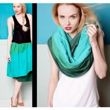 #shawl #green #turquoise #fashion #style