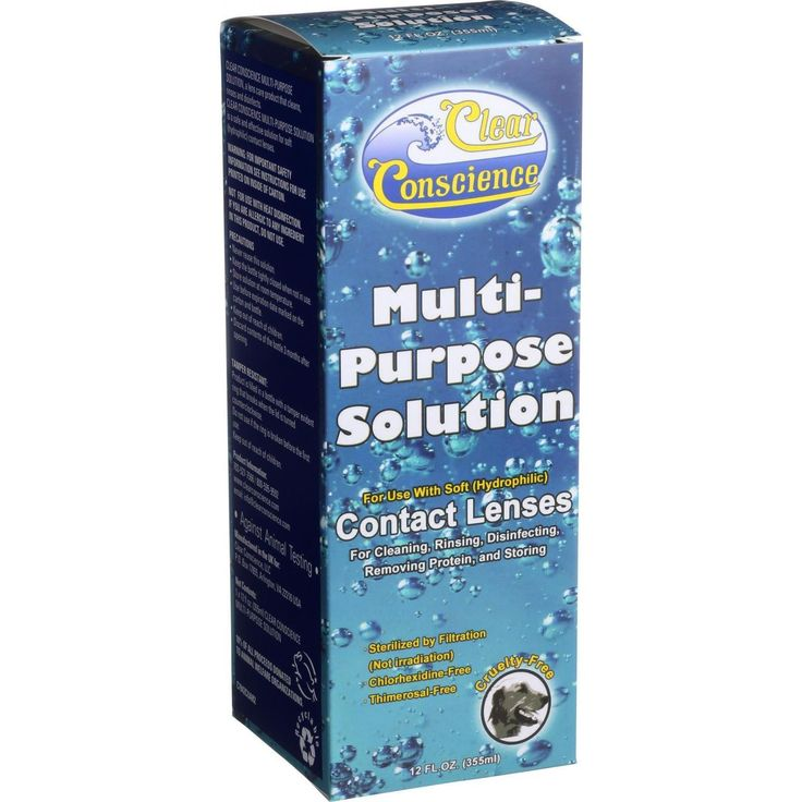 Multi Purpose Solution For Soft Contact Lenses -- 12 fl oz