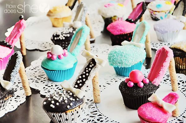 shoe party ideas | And there you have it! The high heel cupcake tutorial! I hope you had ...