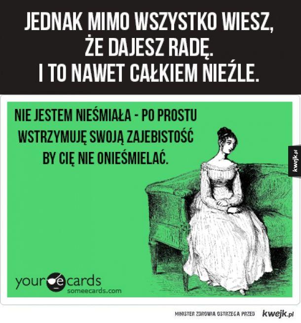 Rzeczy, które zrozumieją tylko bardzo nieśmiałe osoby. - KWEJK.pl - najlepszy zbiór obrazków z Internetu!