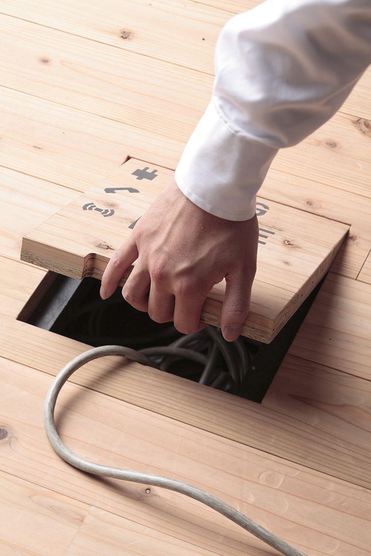 Plastic palette raised floor /   OA floor consists of the  plastic palette units