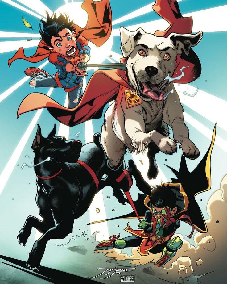 """7,317 Likes, 13 Comments - DC Comics (@dccomicsunited) on Instagram: """"Super-Sons & Super-Pets by @jorge_jimenez_art & @alejandro_sanchez_colorist - Comic - Super-Sons…"""""""