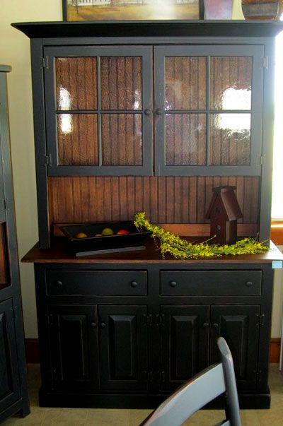 Black Antique Furniture best 25+ black hutch ideas on pinterest | painted china hutch