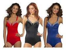 Triumph Doreen Support Black Red Blue Swimsuit Swimwear Swimming Costume RRP £55