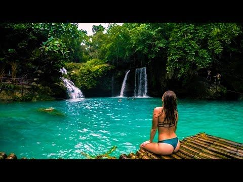 You have to see this!!!MOST BEAUTIFUL WATERFALLS IN THE WORLD - KAWASAN FALLS AND BADIAN CANYONEERING - CEBU, PHILIPPINES - YouTube