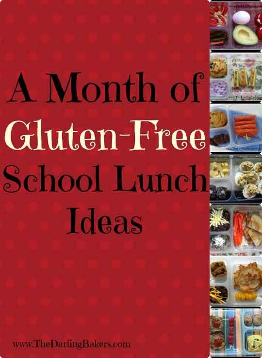 20 Gluten Free School Lunch Box Ideas -http://www.thedarlingbakers.com/20-gluten-free-school-lunch-box-ideas/ #glutenfree #schoollunch #lunch