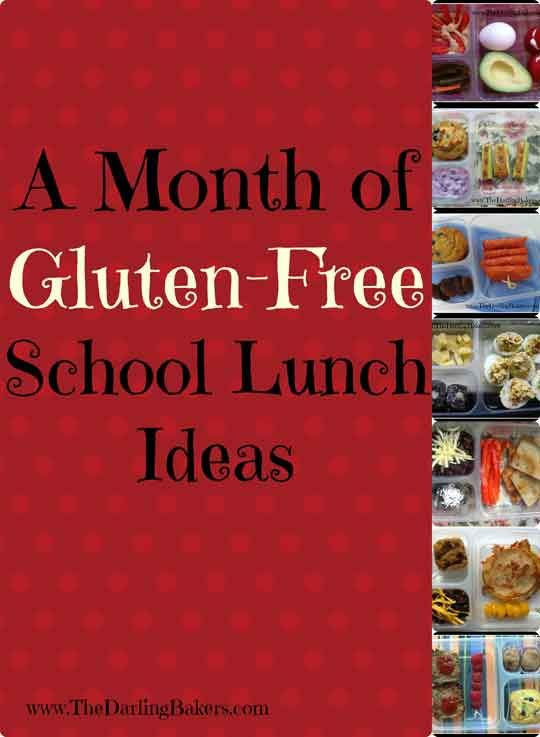 20 Gluten Free School Lunch Box Ideas -http://www.thedarlingbakers.com/20-gluten-free-school-lunch-box-ideas/ #glutenfree #schoollunch #lunch