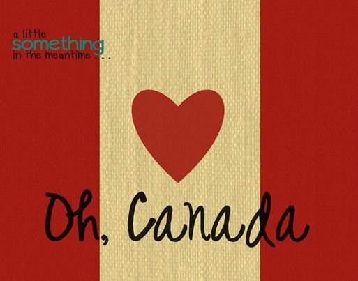 Burlap or plain white centre.  Oh Canada Printable