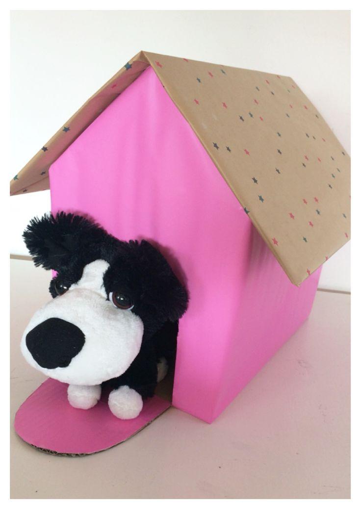 Hondenhok roze + hond Sinterklaas surprise  www.sinterklaassurprises.jouwweb.nl